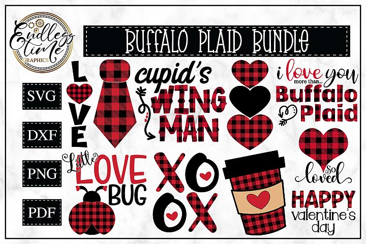 Buffalo Plaid Bundle - A Valentines Day SVG Bundle