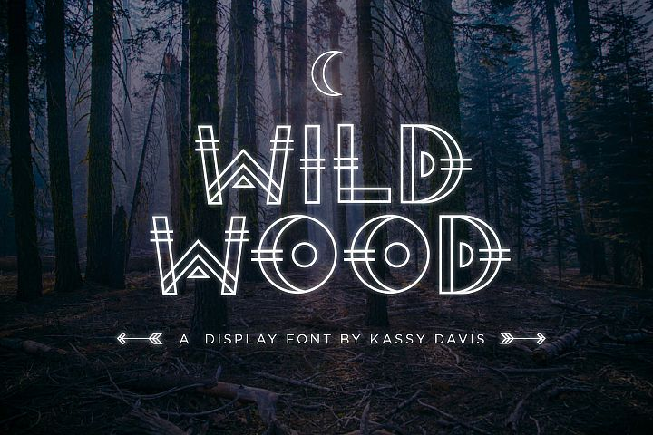 Wild Wood Font & Extras