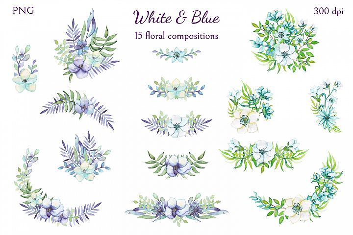 White and Blue - Free Design of The Week Design2