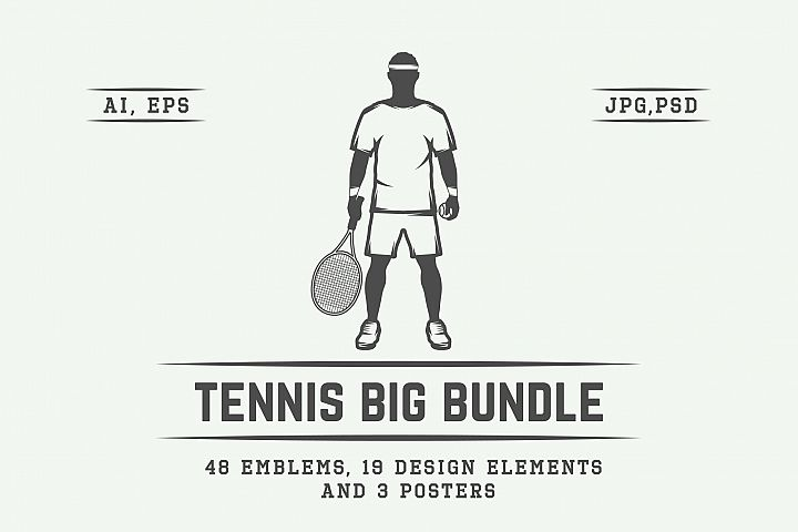 Vintage Tennis Emblems Bundle