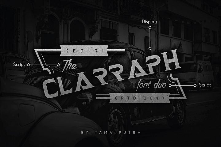 Clarraph Display and Handwritten Font Duo