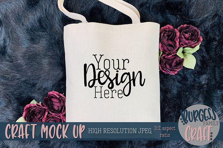 Halloween Treat Bag Flowers Craft mock up |High Res JPEG