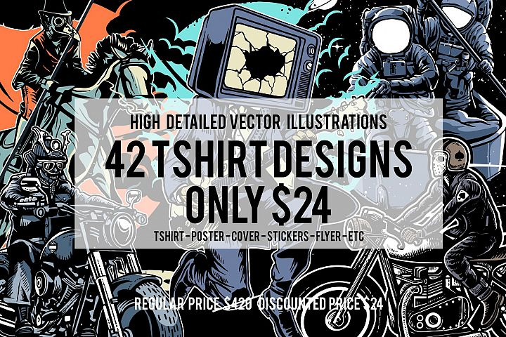 42 Tshirt Designs Bundle