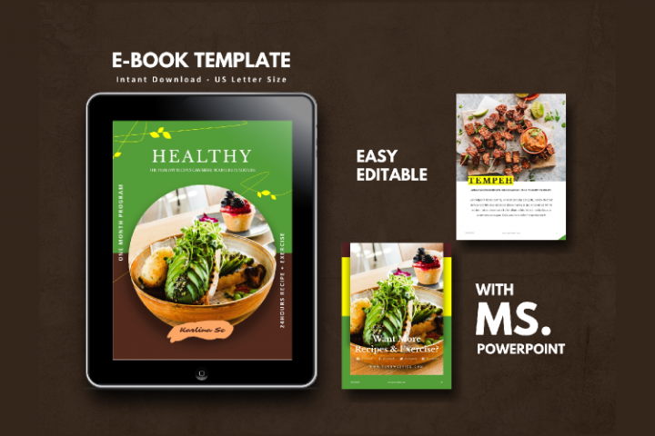 Vegetarian Theme eBook Template