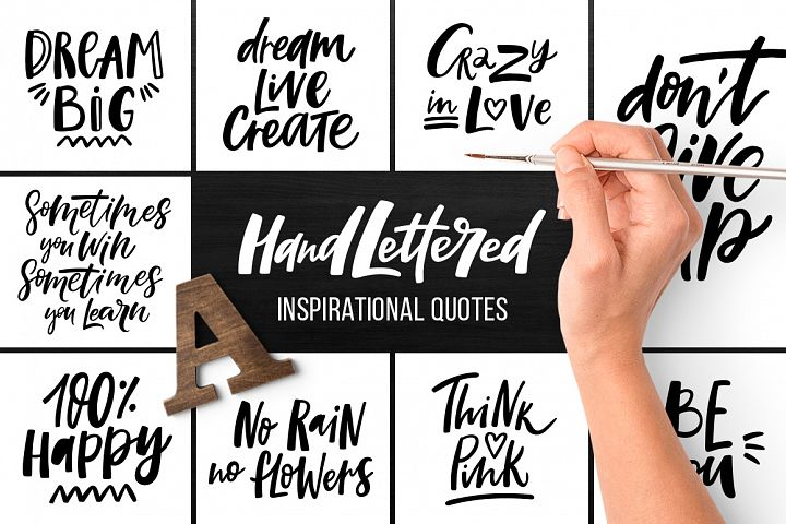 32 Hand-lettered quotes