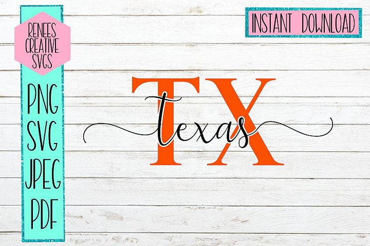 Texas Initials | State SVG | SVG Cutting file