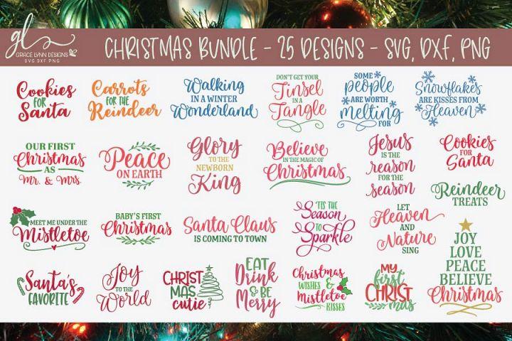 Christmas SVG Bundle - SVG, DXF & PNG