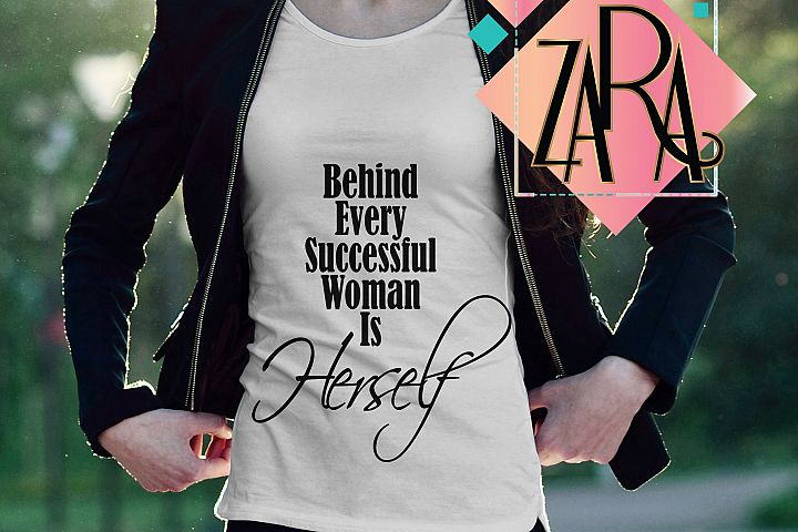 Behind Every Successful Woman Is Herself   ,  svg DXF pdf jpg PNG - Cutting Files - Wall art - Clip Art