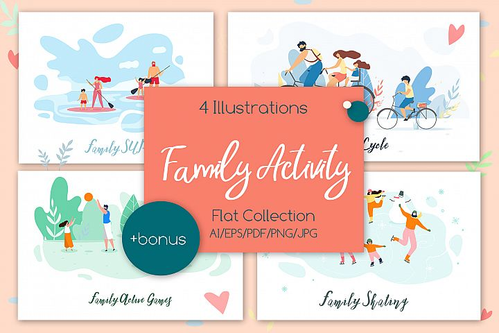Family Activity Flat Collection