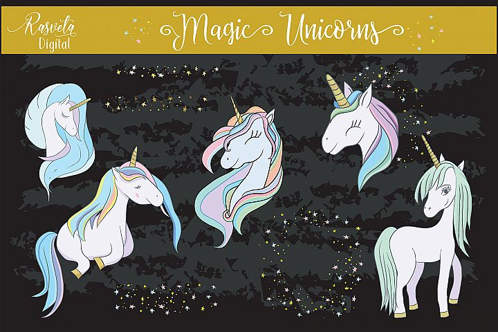 Rainbow Unicorn Clip art