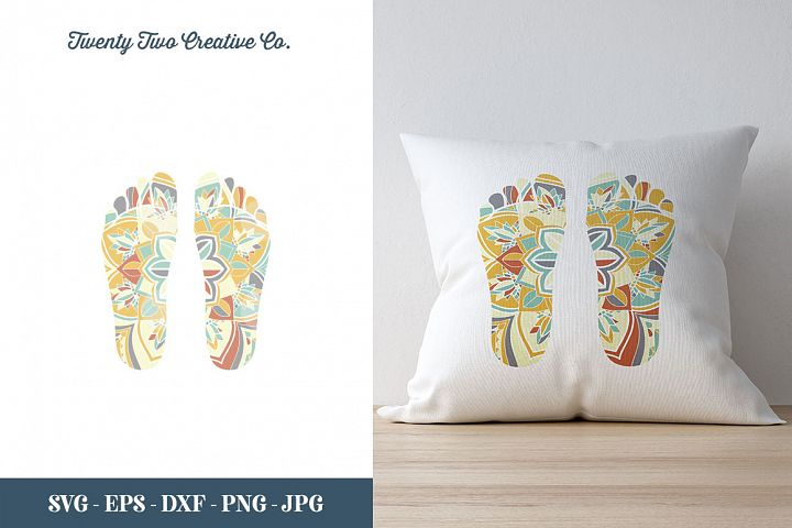 Feet Zentangle Design - SVG, DXF, PNG, EPS, JPG
