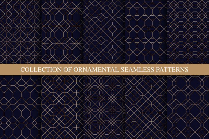 Luxury ornamental seamless patterns