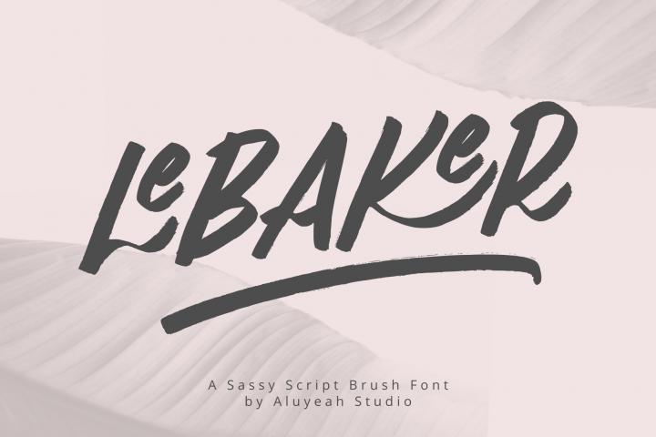 Al LeBAKER - Homemade Script Font