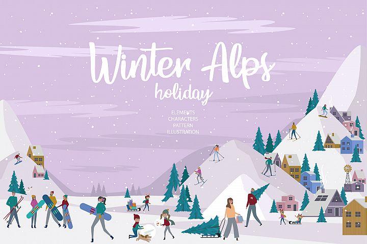 Winter Alps holidays / Mini world