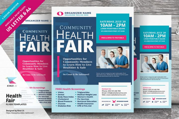 Health Fair Flyer Templates
