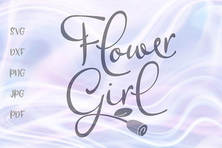 Flower Girl Wedding Sign Bridal Clipart Cut File SVG DXF PNG
