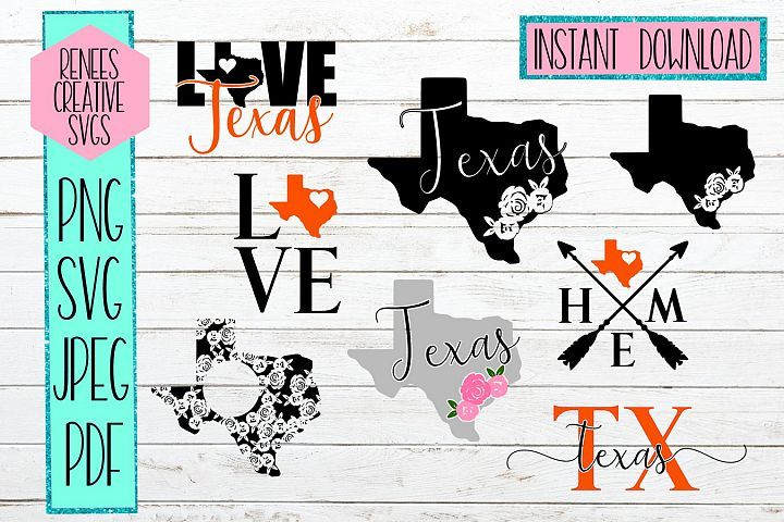 Texas Bundle| State Bundle SVG | SVG Cutting file
