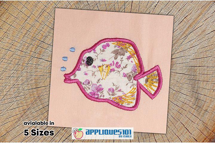 Fish Machine Embroidery Applique Design - Fishes