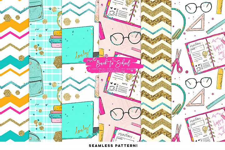 Back to school digital pattern, College Digital paper