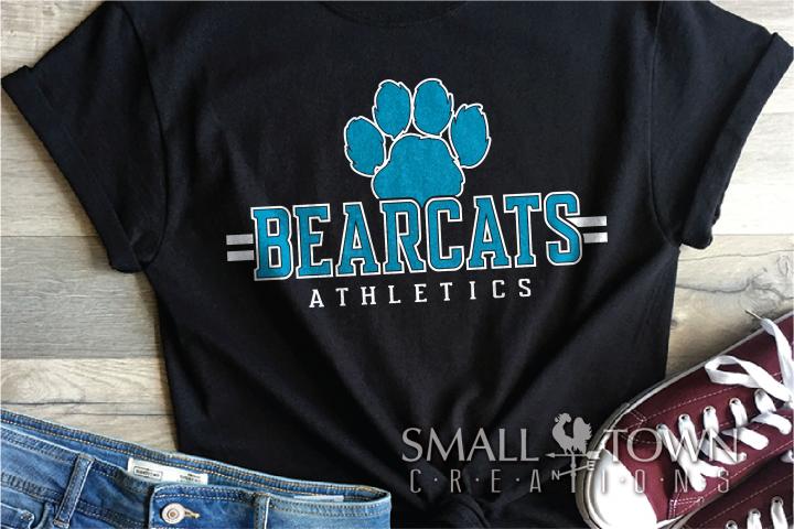 Bearcat, Athletics, Sports,Team, logo, PRINT, CUT & DESIGN