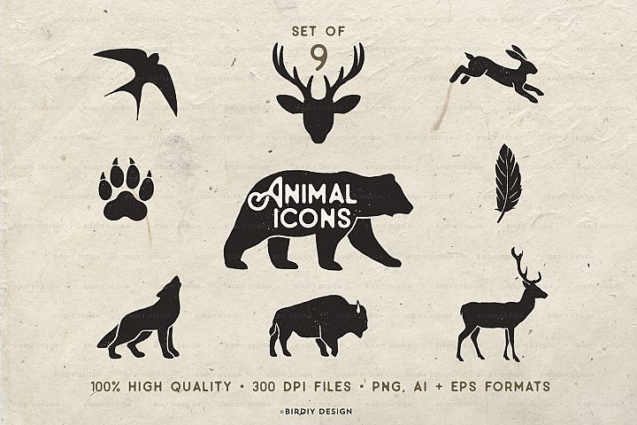 Rustic Animal Icons & Illustrations