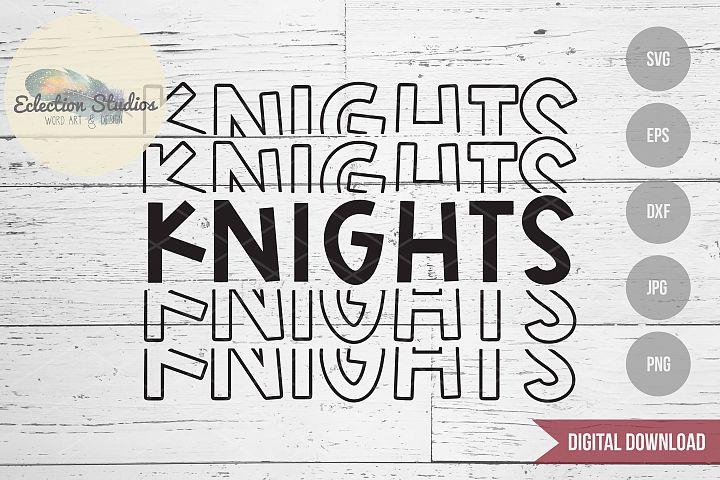 Knights SVG, Sports Team Mascot Name, School Pride SVG