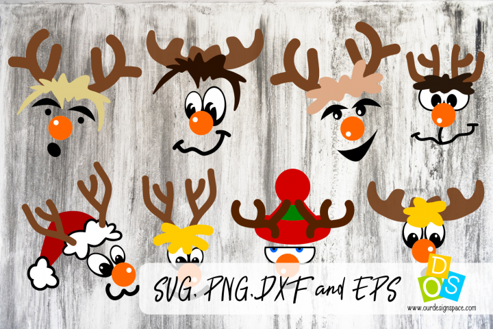 Rudolph, the Orange Nose Reindeer SVG, PNG, DXF and EPS file