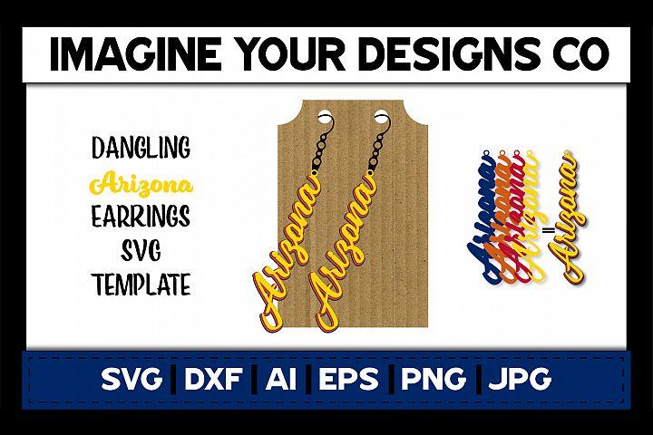 Arizona Dangling Earring - SVG Cut File Template