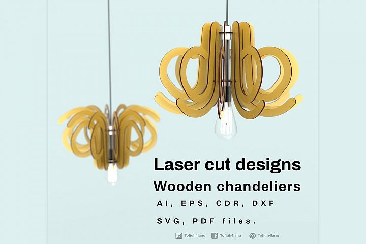 Wooden chandeliers - Laser cutting File