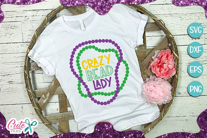 Crazy bead lady SVG cut file for crafter