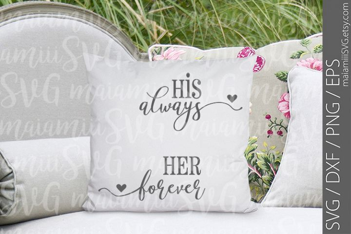 Cut File, Always And Forever Sign, Love Sign, Bedroom Sign