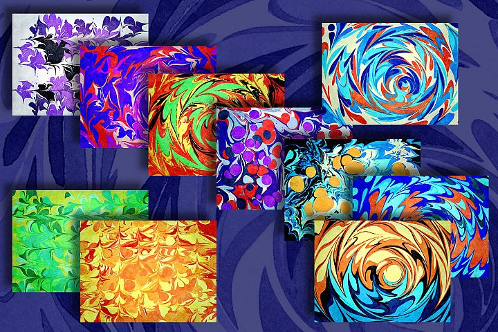 High Resolution Marbled Papers