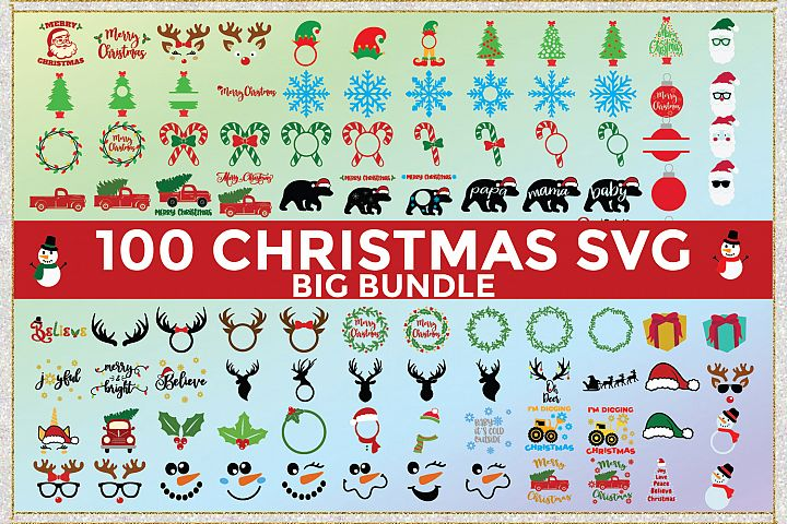 Big Christmas Bundle SVG Cut Files