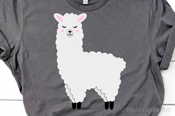 Llama Svg, Llama Silhouette Svg, Funny Llama Svg, Alpaca Svg