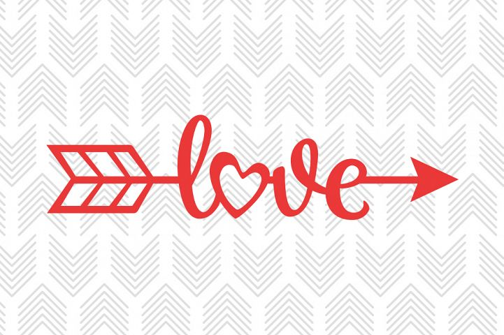 Love Arrow - SVG, AI, EPS, PDF, DXF & PNG FILES