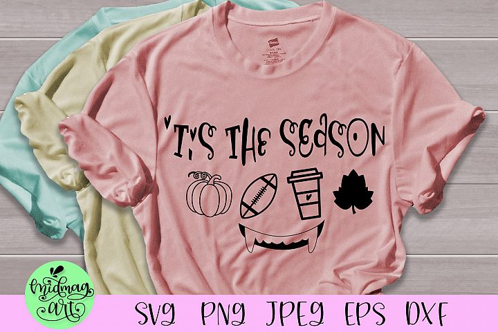 Tis the season svg, football svg, fall svg