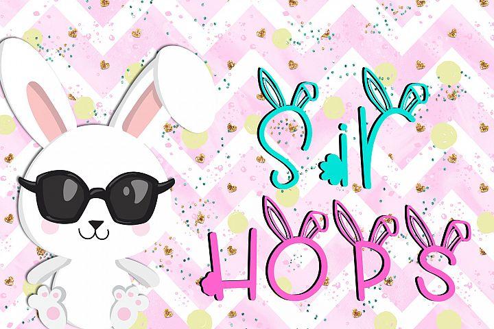 Sir Hops - A Bunny Font