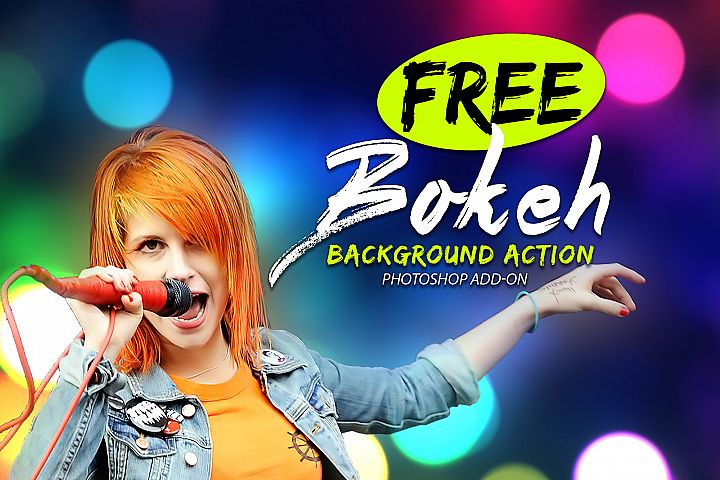 Free Bokeh Photoshop Action example