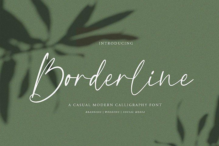 Borderline | Calligraphy Font