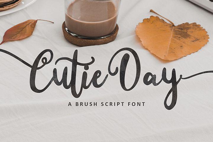 Cutie Day - Brush Script Font