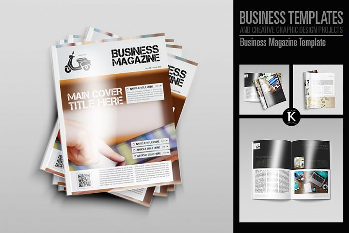 Magazine templates design bundles business magazine template keboto templates magazine friedricerecipe Images