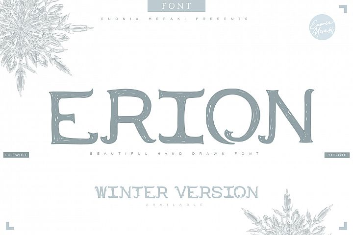 4in1 ERION FONT - Christmas Winter Version
