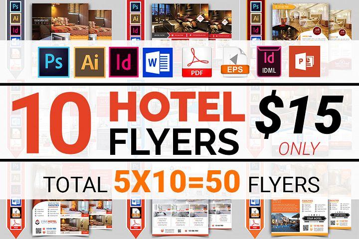 10 Hotel Flyers Bundle