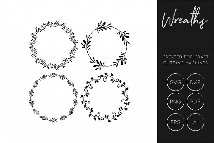 Wreath SVG - Cut files for crafters - SVG / DXF /Ai / EPS/  - Free Design of The Week