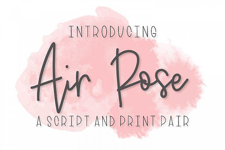 Air Rose - A Script & Print Font Duo Pair