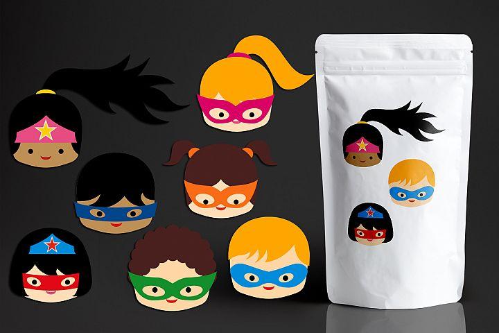 Superhero Head, Kids Faces Graphics