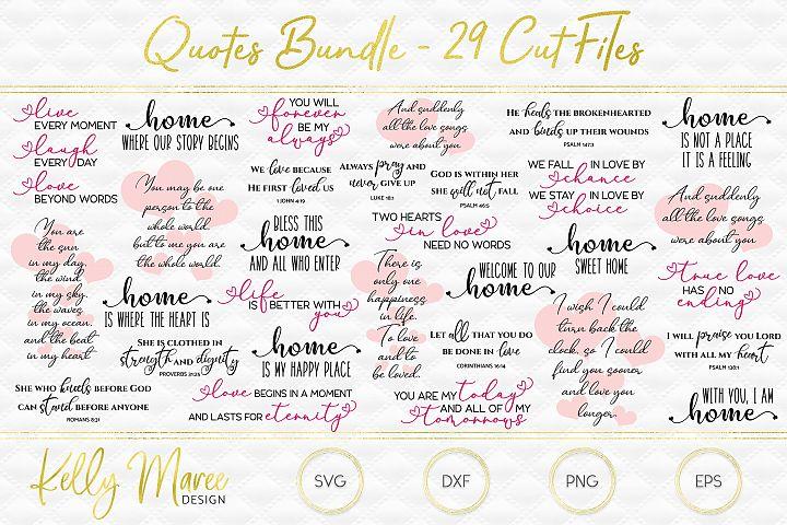 Quotes SVG Cut Files Bundle