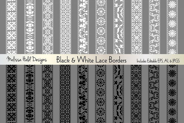 Black & White Lace Borders