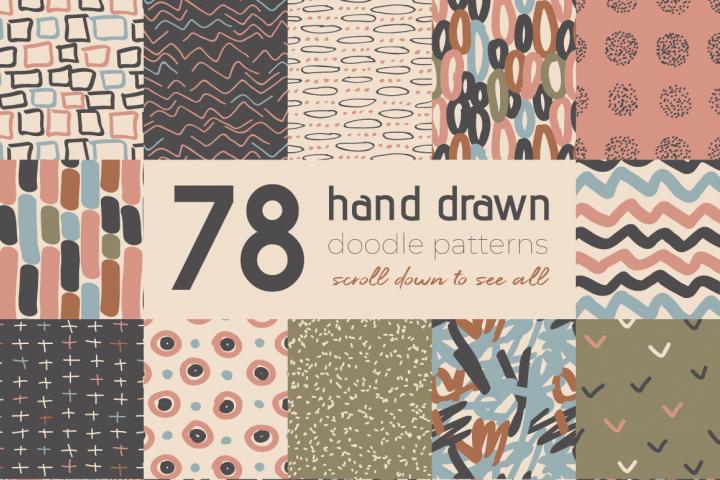 Neutral Hand Drawn Patterns Bundle