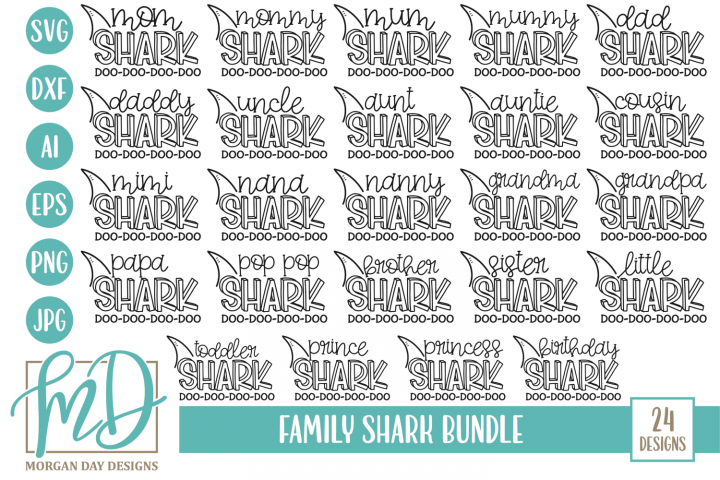 Shark Family Bundle SVG
